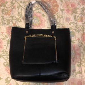 Black Steve Madden tote and crossbody bag